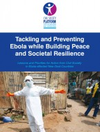 CSPPS Tackling and Preventing Ebola while Building Peace and Societal Resilience