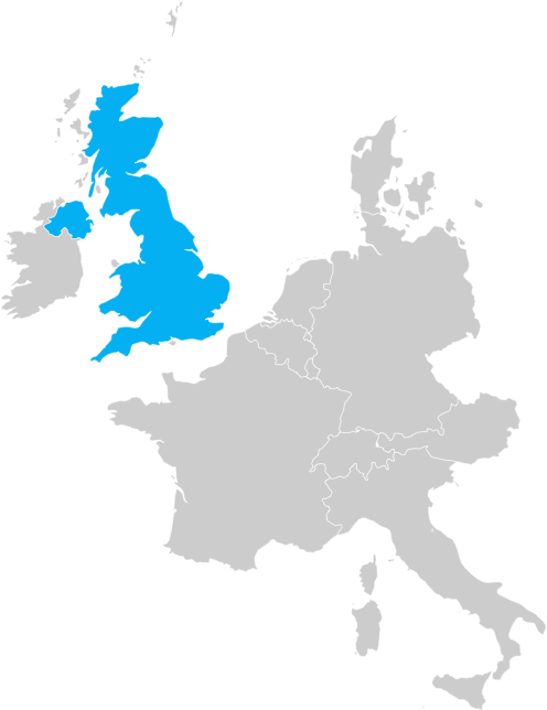 Map of United Kingdom (UK)
